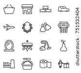 thin line icon set   basket ... | Shutterstock .eps vector #751532404