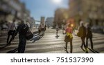 crowd of anonymous people...   Shutterstock . vector #751537390