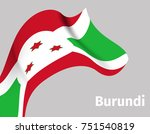 background with burundi wavy... | Shutterstock .eps vector #751540819