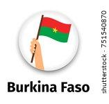 burkina faso flag in hand ...