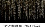 golden dust falling down ... | Shutterstock .eps vector #751544128
