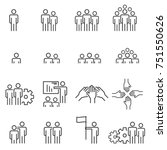 people icons line work group... | Shutterstock .eps vector #751550626
