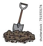 soil and shovel   cartoon... | Shutterstock .eps vector #751553176