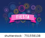 fiesta  fireworks and... | Shutterstock .eps vector #751558138