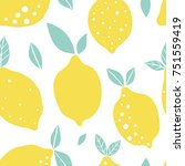 abstract lemon vector seamless... | Shutterstock .eps vector #751559419