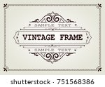 vintage frame with beautiful... | Shutterstock .eps vector #751568386