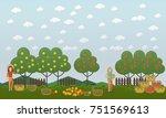 vector illustration of women... | Shutterstock .eps vector #751569613