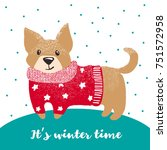 new year greeting card with... | Shutterstock .eps vector #751572958