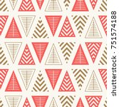 seamless pattern with geometric ... | Shutterstock .eps vector #751574188