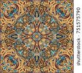 elegant square colorful... | Shutterstock .eps vector #751575790