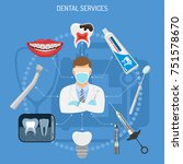 dental services concept with... | Shutterstock .eps vector #751578670