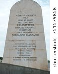 Small photo of Rome, Italy - September 1, 2017: Corradino D'Ascanio tombstone in Ciampino airport, Rome. General Corradino D'Ascanio was an Italian aeronautical engineer who designed the first production helicopter
