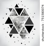 abstract triangles background... | Shutterstock .eps vector #751580074