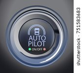 Vector Illustration of Autopilot Button, Eps10 Vector, Transparency and Gradient Mesh Used