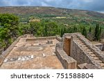 knossos palace archaeological... | Shutterstock . vector #751588804
