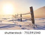 mysterious winter landscape... | Shutterstock . vector #751591540