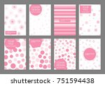 collection of creative... | Shutterstock .eps vector #751594438