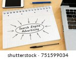 search engine advertising  ... | Shutterstock . vector #751599034