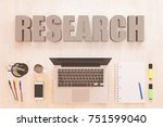 research   text concept with... | Shutterstock . vector #751599040