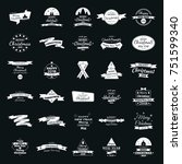 set of 30 greeting logos with... | Shutterstock .eps vector #751599340