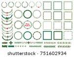 set of new year  christmas...   Shutterstock .eps vector #751602934