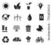 ecology icons. black flat... | Shutterstock .eps vector #751603414