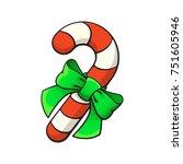 vector illustration. christmas... | Shutterstock .eps vector #751605946