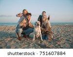 Happy Family With Labrador Dog...