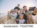 multigenerational family taking ... | Shutterstock . vector #751607980