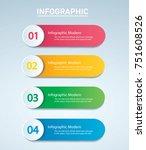 info graphic vector template... | Shutterstock .eps vector #751608526