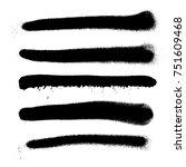 various black monochrome spray... | Shutterstock . vector #751609468