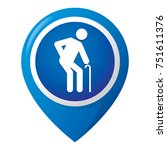 icon representing location of... | Shutterstock .eps vector #751611376
