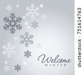 snowflake vector background. | Shutterstock .eps vector #751614763