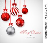 merry christmas and happy new... | Shutterstock .eps vector #751617574
