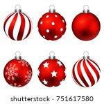 Red Christmas Balls On Gift...