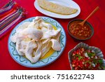 oaxaca cheese quesadilla from... | Shutterstock . vector #751622743