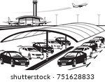 covered parking at airport  ... | Shutterstock .eps vector #751628833