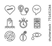 set of modern vector simple... | Shutterstock .eps vector #751631266