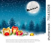 christmas night   background... | Shutterstock . vector #751632028