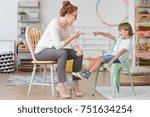 professional female tutor...   Shutterstock . vector #751634254