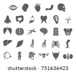 set of organs icon in trendy... | Shutterstock .eps vector #751636423