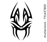 tattoo tribal vector design.... | Shutterstock .eps vector #751637800