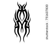 tattoo tribal vector design.... | Shutterstock .eps vector #751637830
