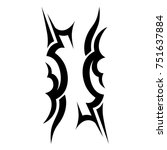 tattoo tribal vector design.... | Shutterstock .eps vector #751637884