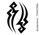 tattoo tribal vector design.... | Shutterstock .eps vector #751637896