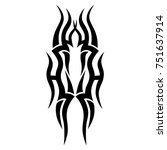 tattoo tribal vector design.... | Shutterstock .eps vector #751637914