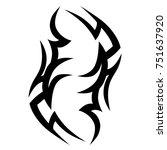 tattoo tribal vector design.... | Shutterstock .eps vector #751637920
