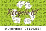recycle it vector illustration. ... | Shutterstock .eps vector #751643884