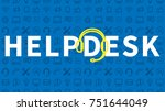 help desk online support ... | Shutterstock .eps vector #751644049