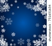 winter card border of snow... | Shutterstock .eps vector #751651654